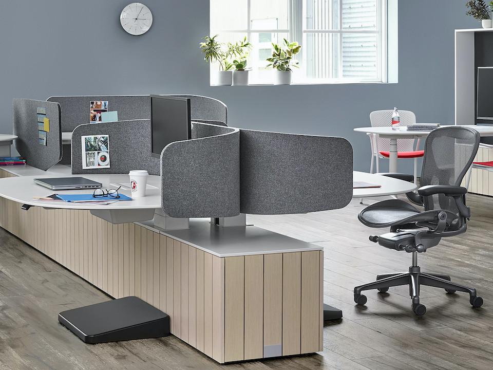מחיצות לחללי עבודה משותפים כיסא משרדי