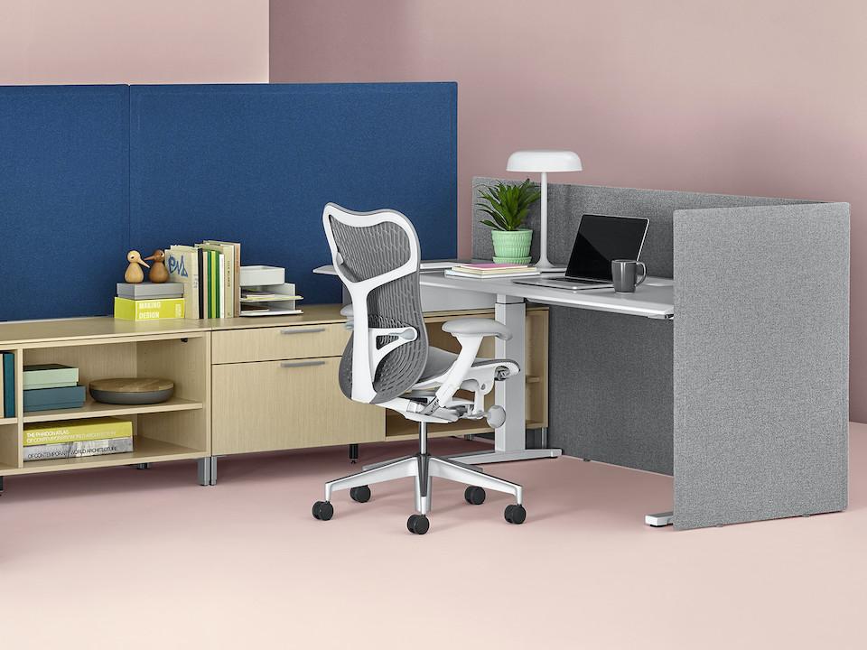 מחיצה אקוסטית למשרד כיסא משרדי