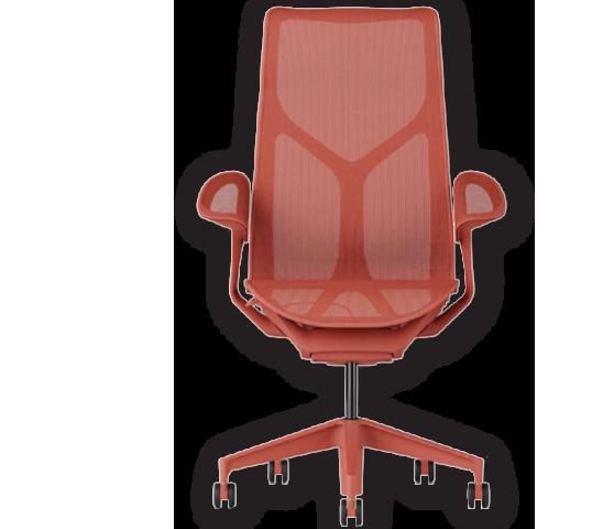 כסא משרדי ארגונומי אדום